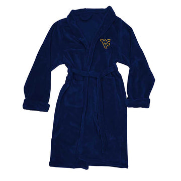 West Virginia Mountaineers Men's Silk Touch Plush Bath Robe
