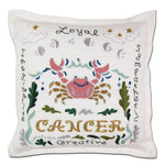 Cancer Astrology Hand-Embroidered Pillow-Pillow-CatStudio-Top Notch Gift Shop