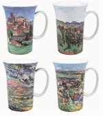 Cezanne Set of 4 Bone China Mugs-Mug-McIntosh Trading-Top Notch Gift Shop