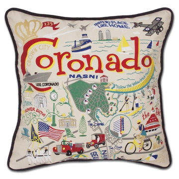 Coronado Embroidered Catstudio Pillow