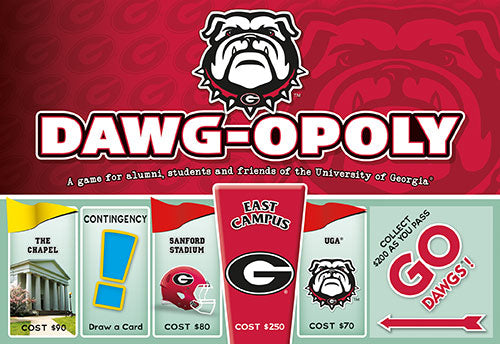 Dawg-opoly - University of Georgia Monopoly Board Game-Game-Late For The Sky-Top Notch Gift Shop
