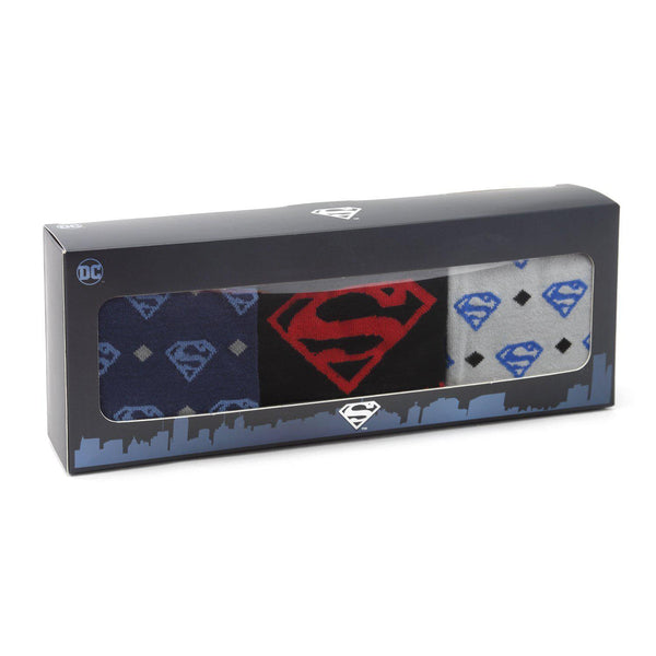 Superman 3 Pair Sock Gift Set-Socks-Cufflinks, Inc.-Top Notch Gift Shop
