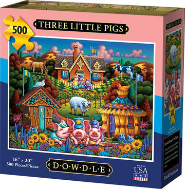 Three Little Pigs 500 Piece Puzzle