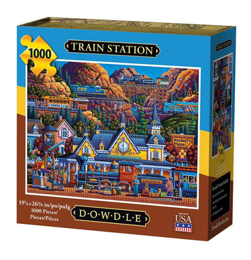 Train Station 1000 Piece Puzzle