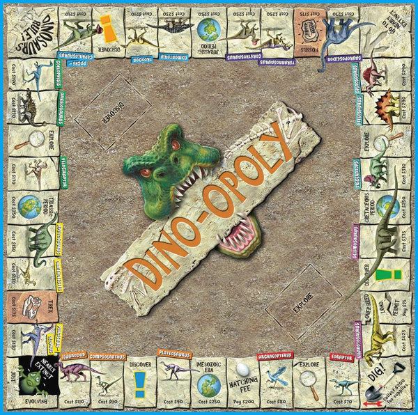 Dino-opoly Monopoly Board Game-Game-Late For The Sky-Top Notch Gift Shop