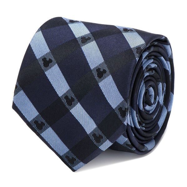 Mickey Mouse Blue Plaid Tie-Necktie-Cufflinks, Inc.-Top Notch Gift Shop