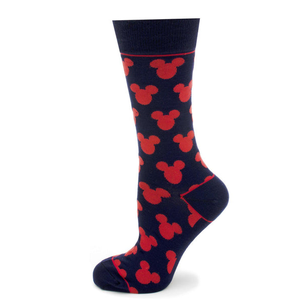 Mickey Mouse Silhouette Blue Socks-Socks-Cufflinks, Inc.-Top Notch Gift Shop