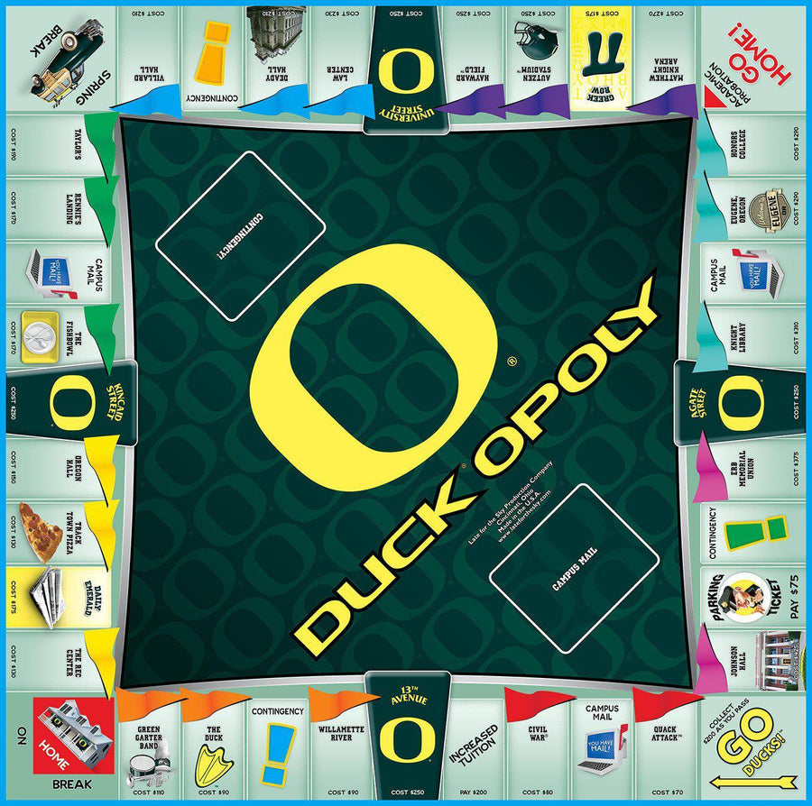 Duck-opoly - University of Oregon Monopoly Game-Game-Late For The Sky-Top Notch Gift Shop