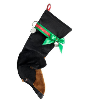 Dachshund (Black & Tan) Christmas Stocking-Holiday Stocking-Hearth Hounds-Top Notch Gift Shop