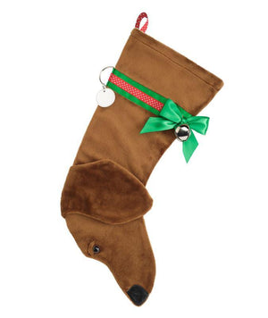 Dachshund (Tan) Christmas Stocking-Holiday Stocking-Hearth Hounds-Top Notch Gift Shop