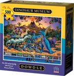 Dinosaur Museum 500 Piece Puzzle-Puzzle-Dowdle Folk Art-Top Notch Gift Shop