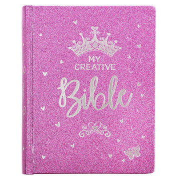 My Creative Bible for Girls, Journaling Bible - ESV - Purple Glitter Hardcover