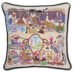 Fort Worth Hand Embroidered Catstudio Pillow-Pillow-CatStudio-Top Notch Gift Shop