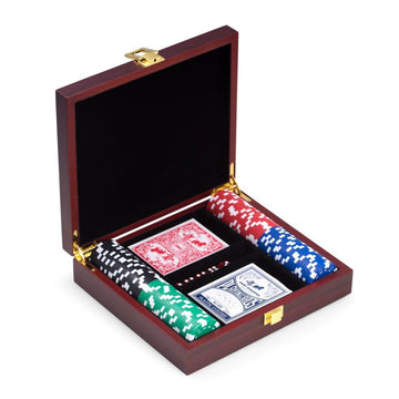 Poker Set in Wood Box