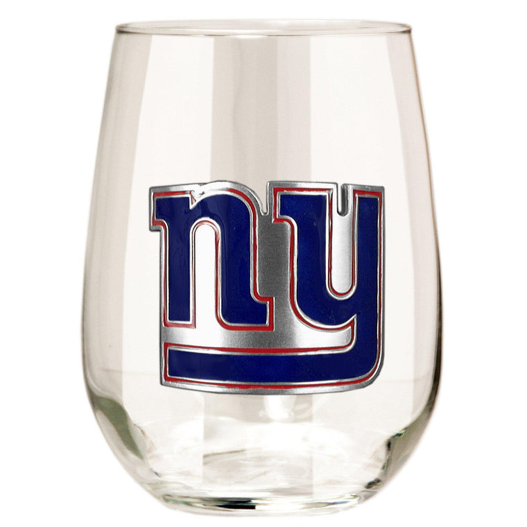 New York Giants 15 oz. Stemless Wine Glass - (Set of 2)-Great American Products-Top Notch Gift Shop