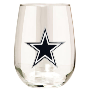 Dallas Cowboys  Stemless Wine Glass - (Set of 2)