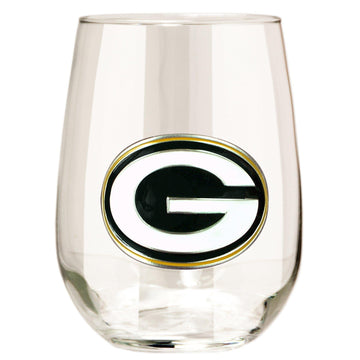 Green Bay Packers Stemless Wine Glass - (Set of 2)