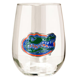 Florida Gators 15 oz. Stemless Wine Glass - (Set of 2)-Stemless Wine Glass-Great American Products-Top Notch Gift Shop