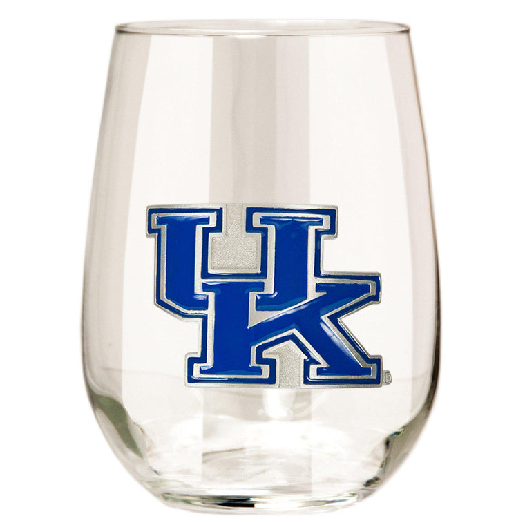 Kentucky Wildcats 15 oz. Stemless Wine Glass - (Set of 2)-Great American Products-Top Notch Gift Shop