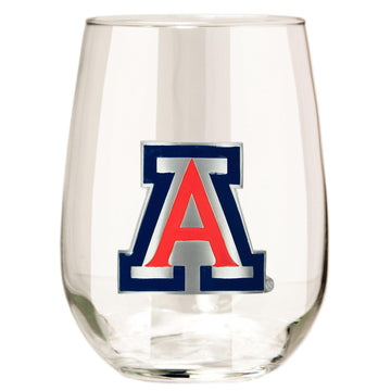 Arizona Wildcats Stemless Wine Glass - (Set of 2)