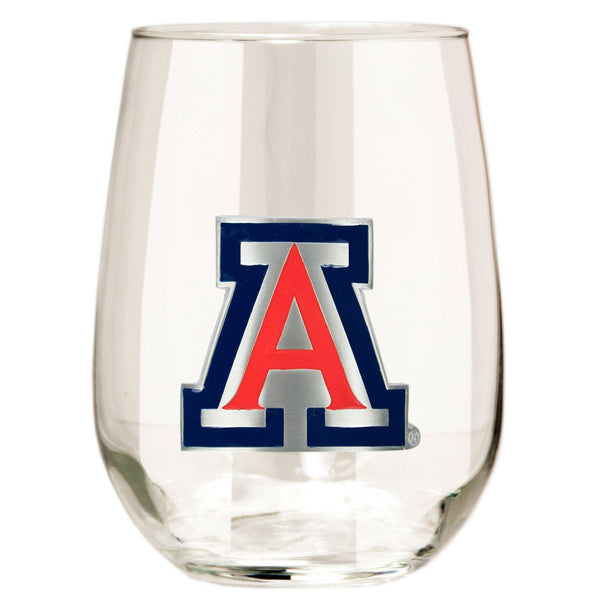 Arizona Wildcats Stemless Wine Glass - (Set of 2)-Stemless Wine Glass-Great American Products-Top Notch Gift Shop