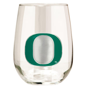 Oregon Ducks 15 oz. Stemless Wine Glass - (Set of 2)-Stemless Wine Glass-Great American Products-Top Notch Gift Shop