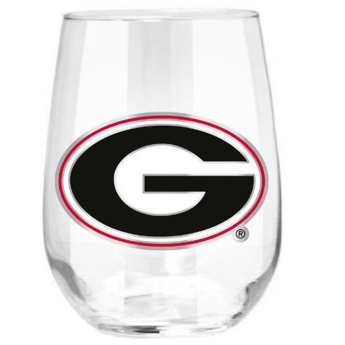 Georgia Bulldogs Stemless Wine Glass - (Set of 2)-Stemless Wine Glass-Great American Products-Top Notch Gift Shop