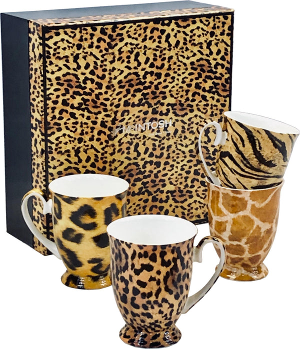 Go Wild Bone China Mugs - Set of 4-Mug-McIntosh Trading-Top Notch Gift Shop