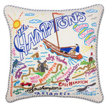 Hamptons Embroidered Catstudio Pillow-Pillow-CatStudio-Top Notch Gift Shop