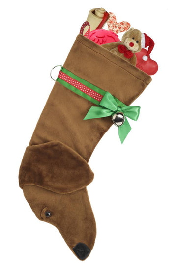 Dachshund (Tan) Christmas Stocking