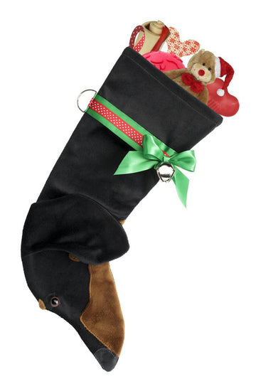 Dachshund (Black & Tan) Christmas Stocking