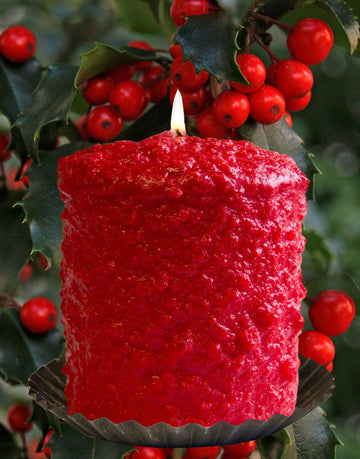 Hollyberry Scented Hearth Candle