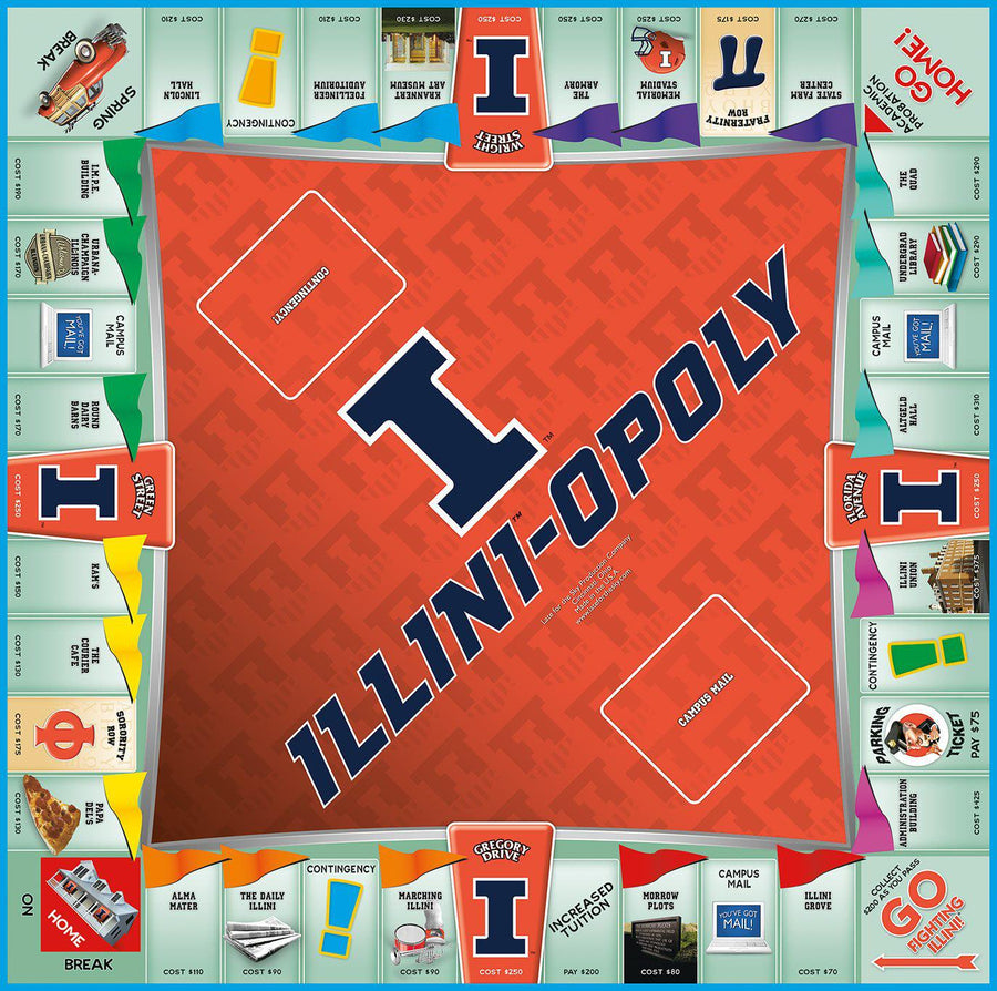 Illini-opoly University of Illinois Monopoly Game-Game-Late For The Sky-Top Notch Gift Shop