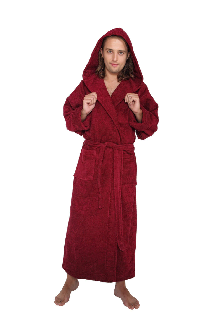 Men's Ultra Full Length Hooded Terrycloth Bathrobe-ARUS-Top Notch Gift Shop