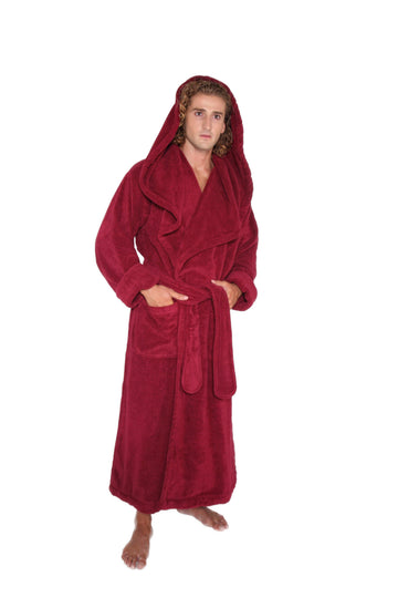 Men's Luxury Monkstyle Full Length Hooded Bathrobe