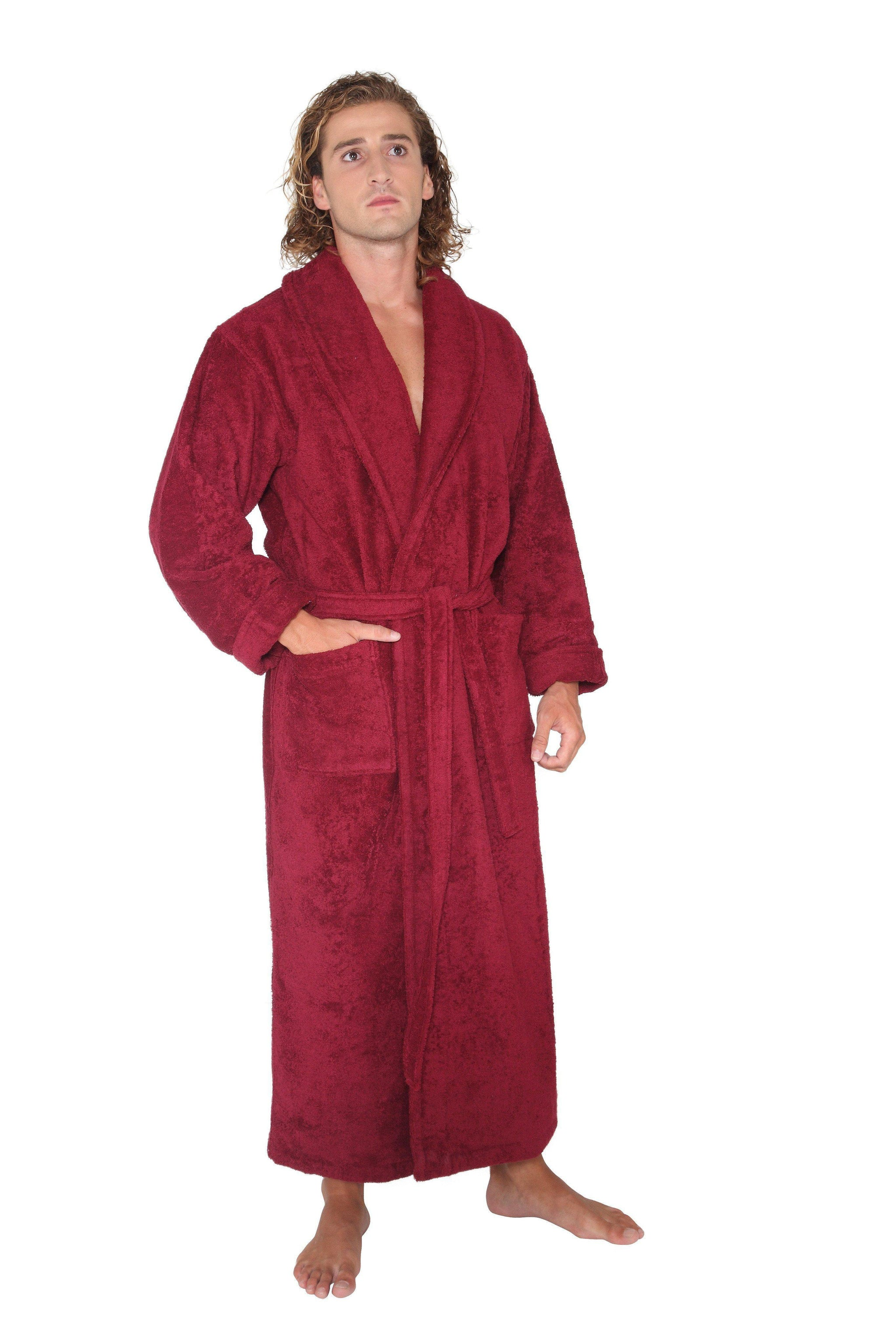 Men's Turkish Terrycloth Full Length Bathrobe-Bathrobe-ARUS-Top Notch Gift Shop
