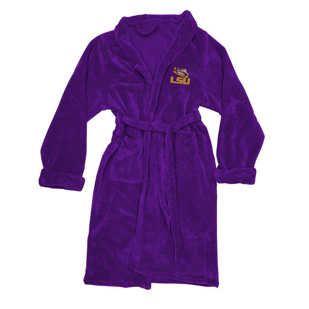 Louisiana State University Tigers Men's Silk Touch Plush Bath Robe-Bathrobe-Northwest-Top Notch Gift Shop