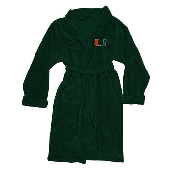 Miami Hurricanes Men's Silk Touch Plush Bath Robe
