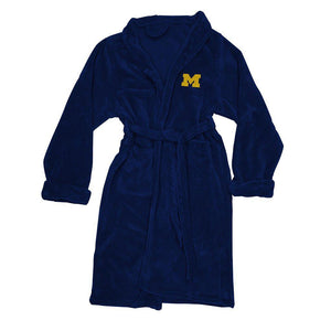 Michigan Wolverines Men's Silk Touch Plush Bath Robe-Bathrobe-Northwest-Top Notch Gift Shop