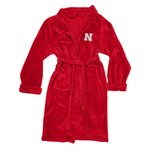 Nebraska Cornhuskers Men's Silk Touch Plush Bath Robe-Bathrobe-Northwest-Top Notch Gift Shop