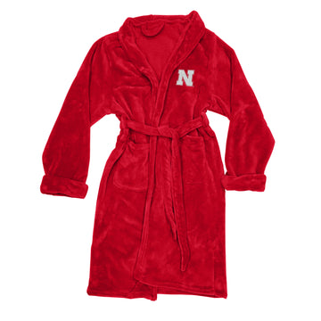 Nebraska Cornhuskers Men's Silk Touch Plush Bath Robe - Red