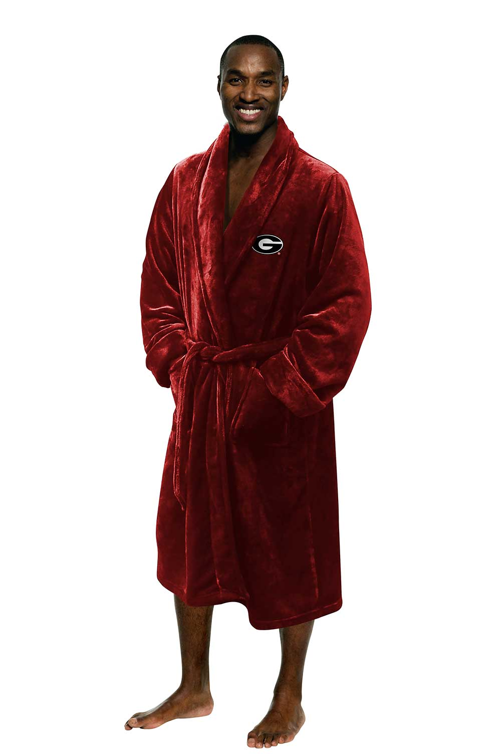 Georgia Bulldogs Men's Silk Touch Plush Bath Robe-Bathrobe-Northwest-Top Notch Gift Shop