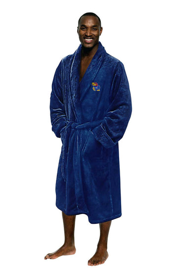 Kansas Jayhawks Men's Silk Touch Plush Bath Robe