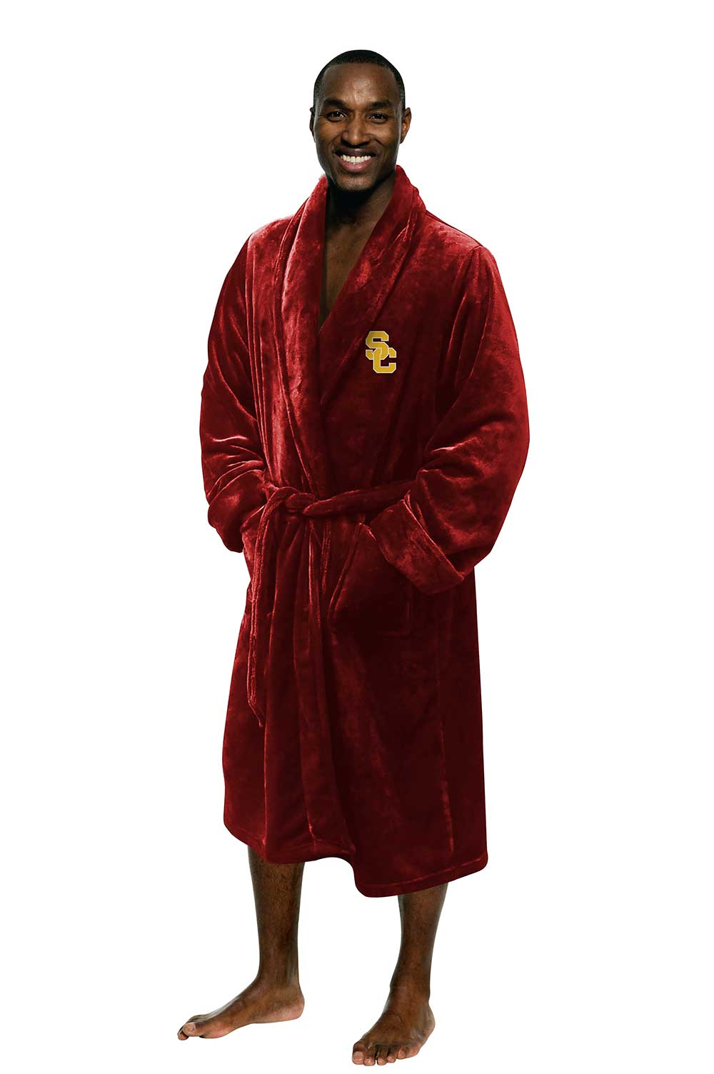 USC Trojans Men's Silk Touch Plush Bath Robe-Bathrobe-Northwest-Top Notch Gift Shop