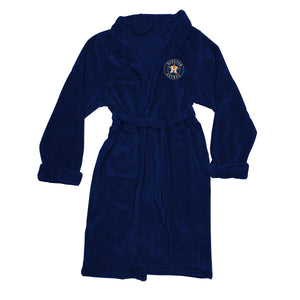 Houston Astros Men's Silk Touch Plush Bath Robe-Bathrobe-Northwest-Top Notch Gift Shop