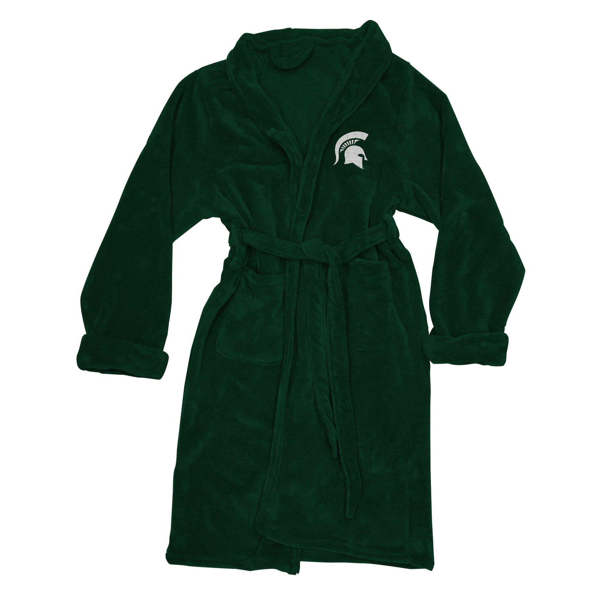 Michigan State Spartans Men's Silk Touch Plush Bath Robe-Bathrobe-Northwest-Top Notch Gift Shop