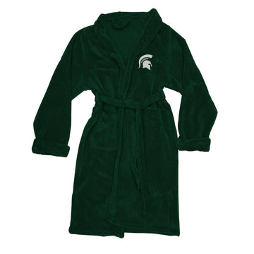 Michigan State Spartans Men's Silk Touch Plush Bath Robe