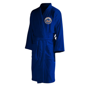 New York Mets Men's Silk Touch Plush Bath Robe-Bathrobe-Northwest-Top Notch Gift Shop
