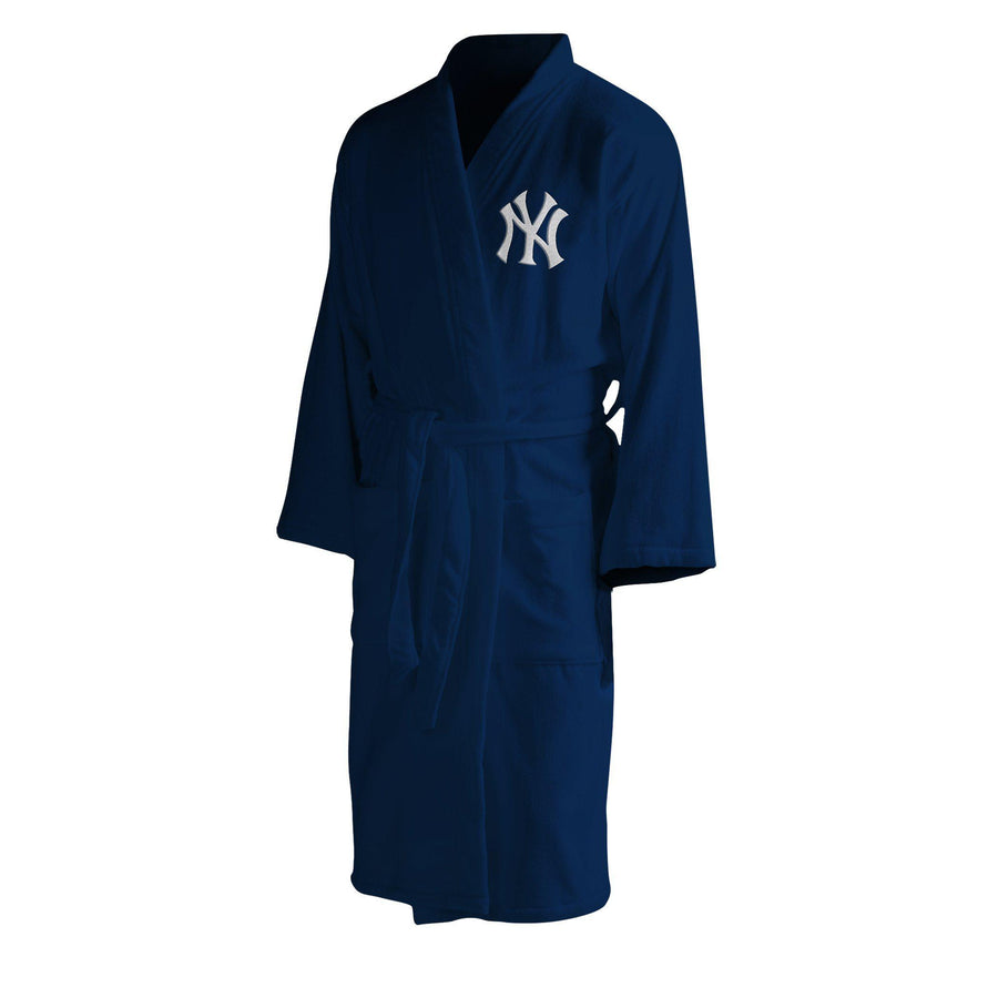 New York Yankees Men's Silk Touch Plush Bath Robe-Bathrobe-Northwest-Top Notch Gift Shop