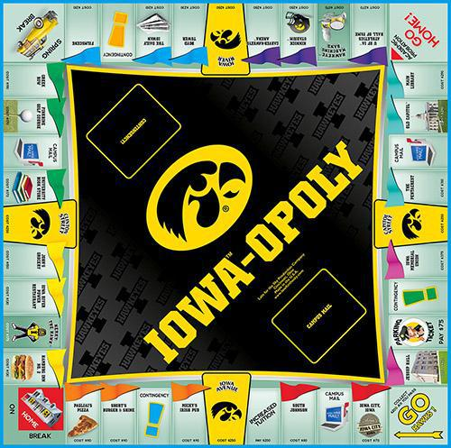 Iowa-opoly - University of Iowa Monopoly Game-Game-Late For The Sky-Top Notch Gift Shop